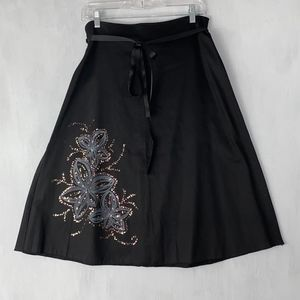 Miss Me Black Skirt with Embellish front